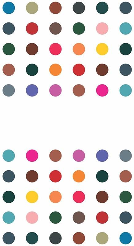 Kohinoor Multi colour size 4 round bindi Women Multicolor Bindis(Stick on)