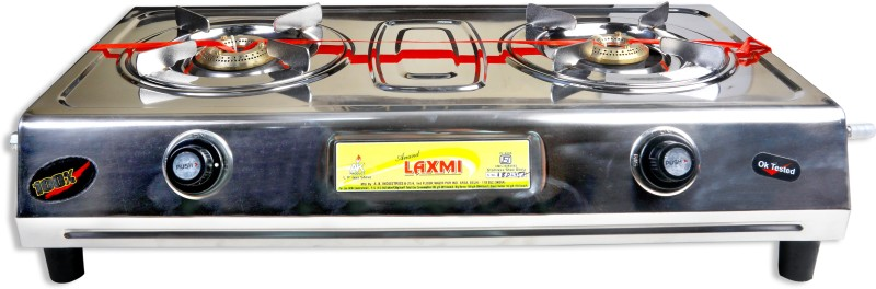 Anand Laxmi AnandLaxmi-vs2 Steel Manual Gas Stove(2 Burners)