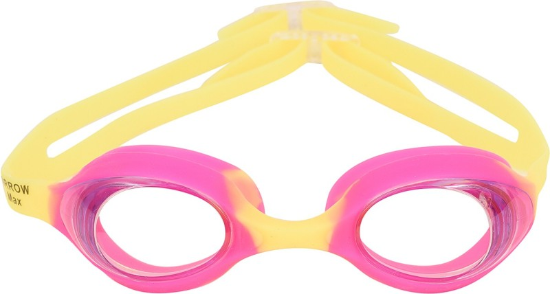Arrowmax Kids Swimming Googles Best Quality Color Pink Age 2-10 Swimming Goggles(Pink)