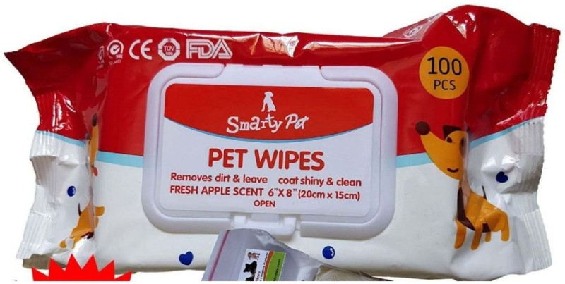 Pet Needs PA-TP-03-100-RE Pet Ear Eye Wipes(Pack of 100)