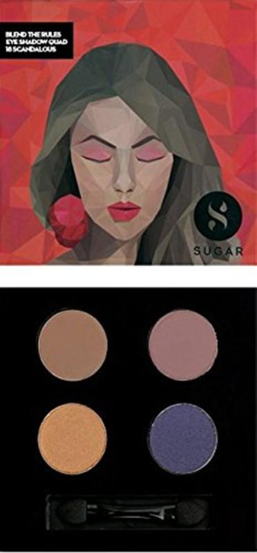 Sugar Blend The Rules Eyeshadow Quad 5 g(Shade No.- 18 Scandalous)