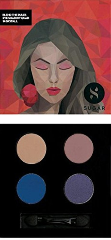 Sugar Blend The Rules Eyeshadow Quad 5 g(Shade No.- 14 Skyfall)