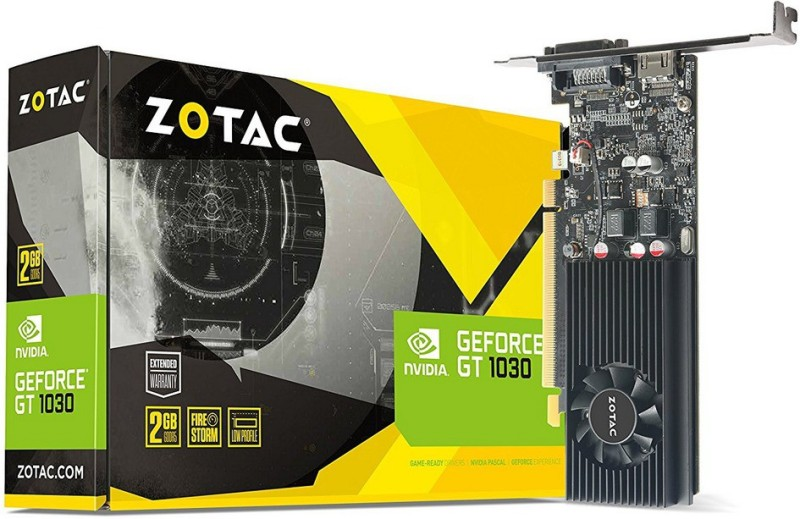 ZOTAC NVIDIA Geoforce gt 1030 2gb 64 bit ddr5 2 GB DDR5 Graphics Card
