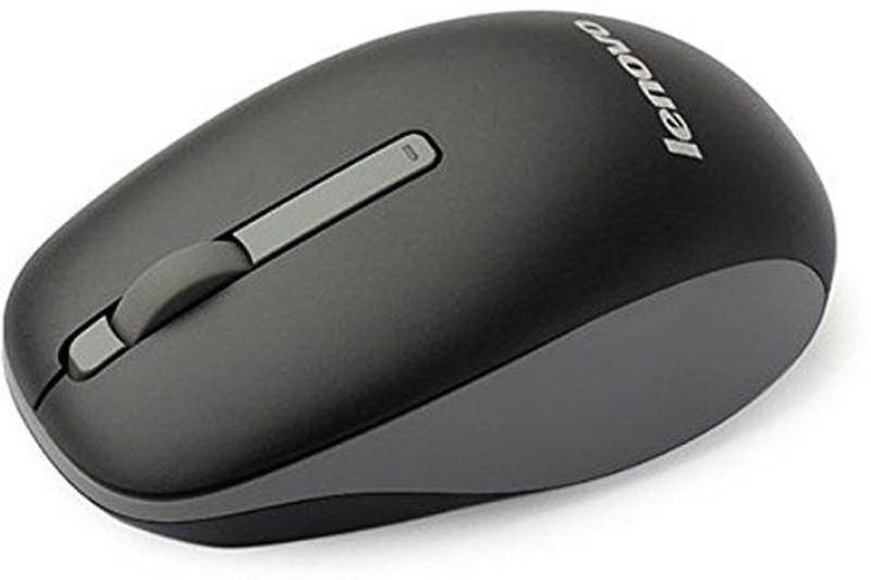 Lenovo N100 Wireless Mouse Wireless Optical Mouse(2.4GHz Wireless, Black)