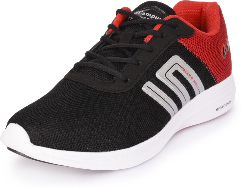 Campus Walking Shoes For Men(Black, Red)