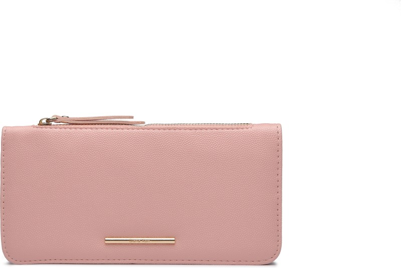 Diana Korr Women Casual Pink Artificial Leather Wallet(5 Card Slots)