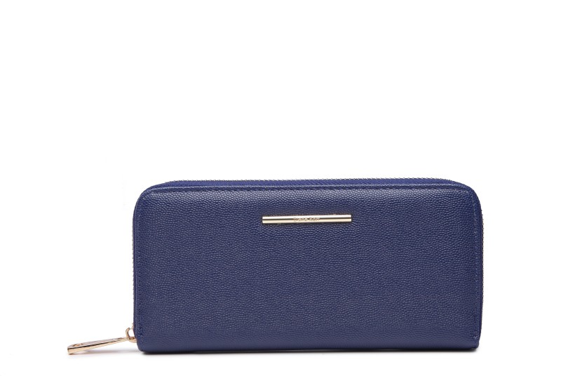 Diana Korr Women Casual, Evening/Party, Ethnic Blue Artificial Leather Wallet(5 Card Slots)