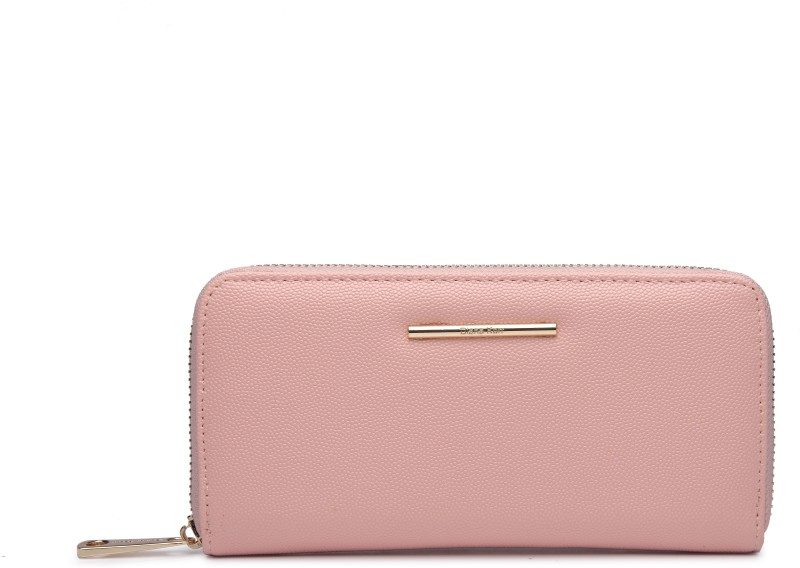 Diana Korr Women Evening/Party, Trendy Pink Artificial Leather Wallet(5 Card Slots)