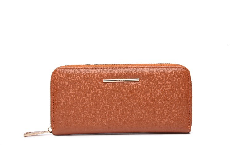 Diana Korr Women Formal Tan Artificial Leather Wallet(5 Card Slots)