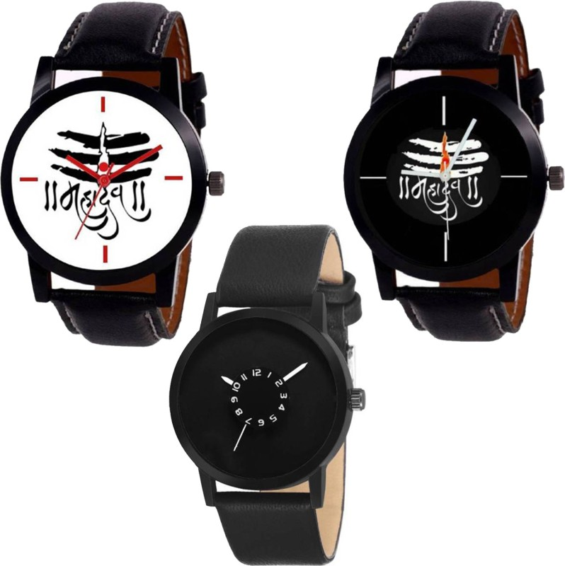 TWiT Combo Pack 3 New Graceful Designer Leather Belt Watch For Boys & Girls TW-N34 Analog Watch  - For Men & Women