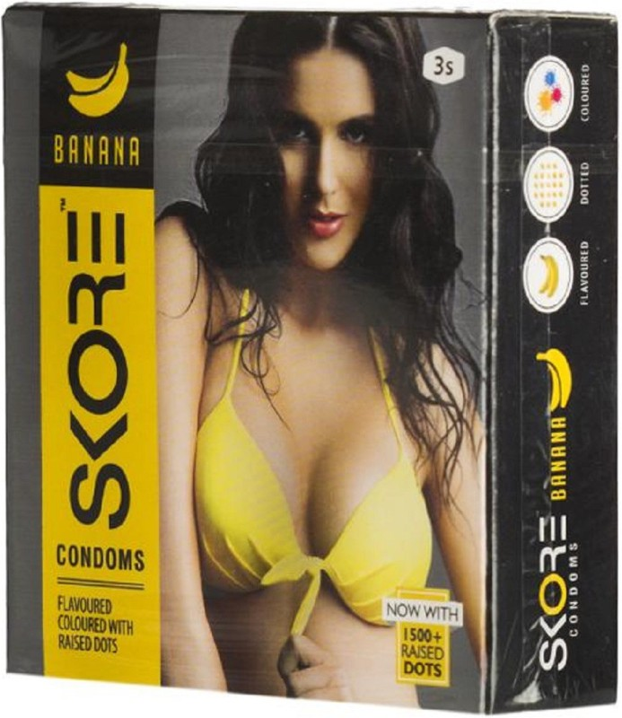 Skore Banana Condoms 3 Pcs Pack of 1 Condom(3S)