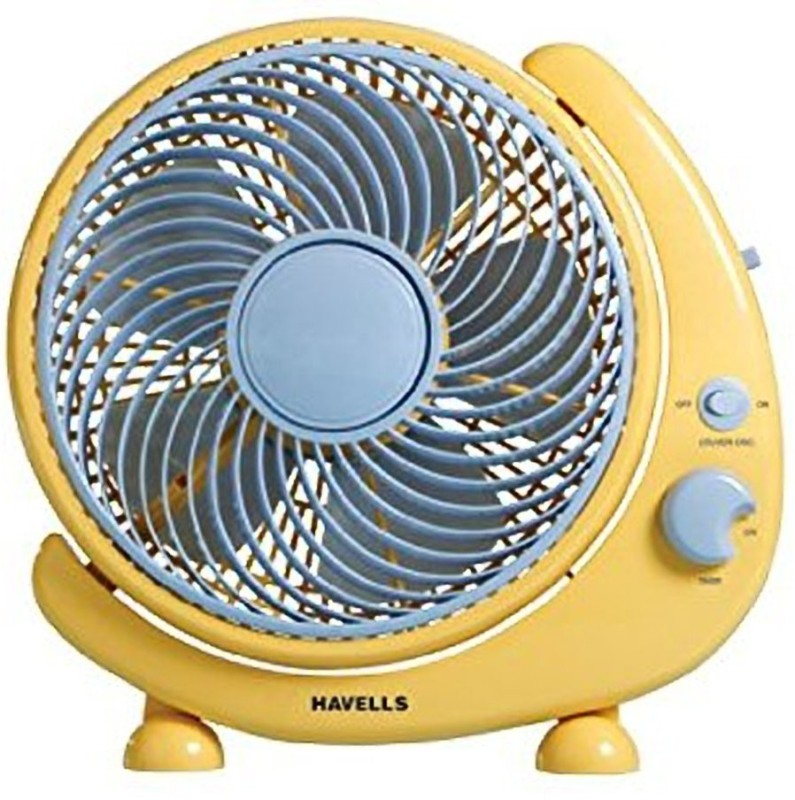 Havells Crescent 5 Blade Table Fan(Yellow)
