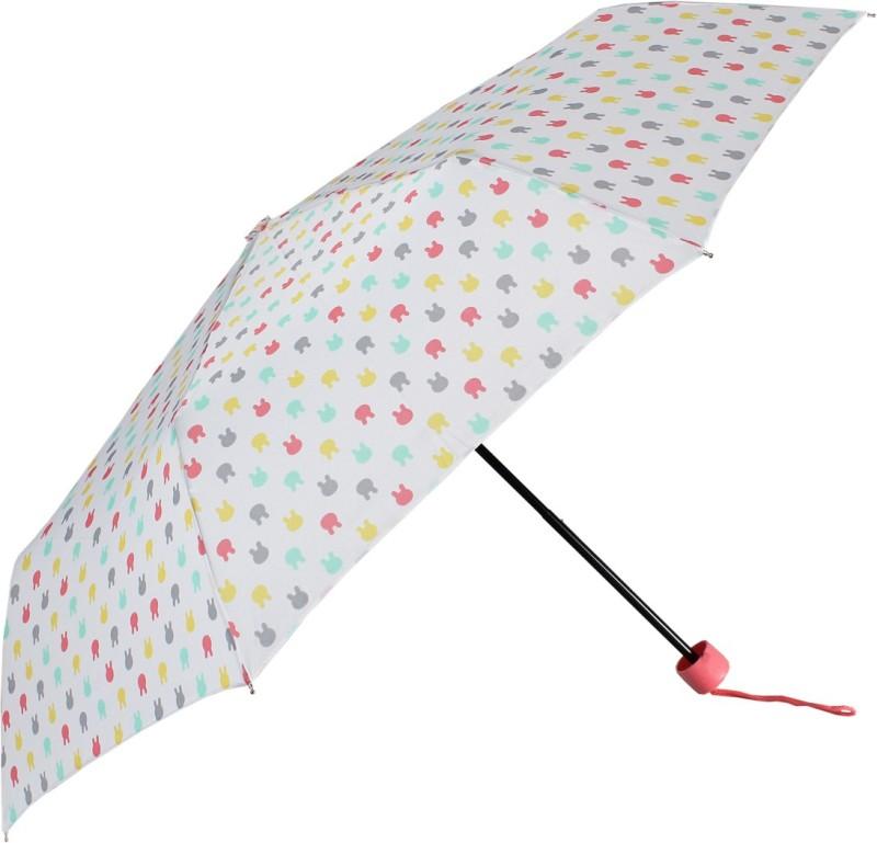 Johns 545mm 3 Fold Printed Umbrella - 1 Umbrella(White)