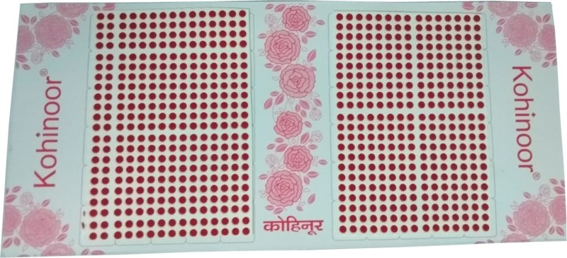 Kohinoor Red Matching colour, Size-8, Round for women Women Red Bindis(Stick on)