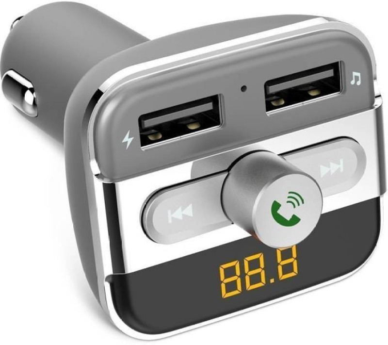 Techista v2.1 Car Bluetooth Device with FM Player, Car Charger(Multicolor)