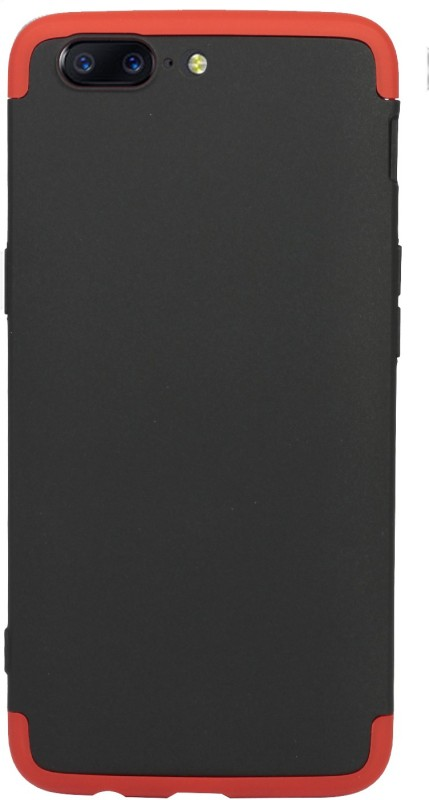 Flipkart SmartBuy Back Cover for OnePlus 5(Black, Red, Shock Proof, Plastic)