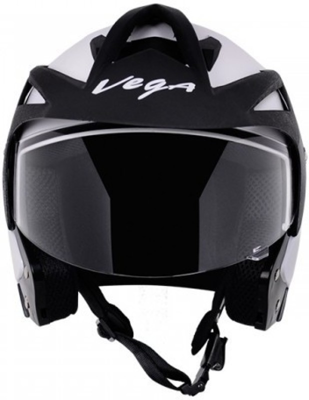 VEGA Crux OF (Open Face) Motorbike Helmet M (White) Motorsports, Motorbike Helmet(White, Black)