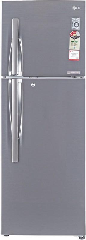 LG 284 L Frost Free Double Door 3 Star Refrigerator(Shiny Steel, GL-C302RPZU)