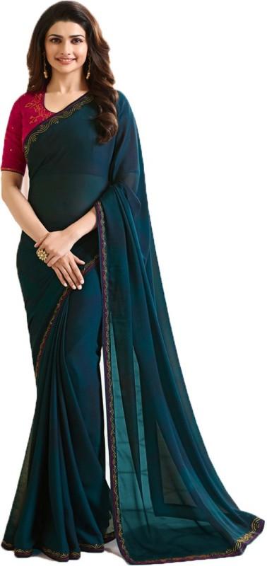 Bombey Velvat Fab Self Design Daily Wear Silk Saree(Dark Green)