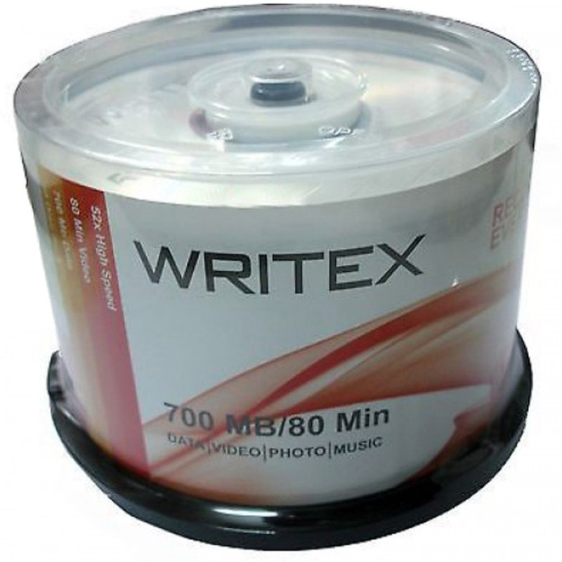 WRITEX CD Recordable SPINDLE BOX 700 MB