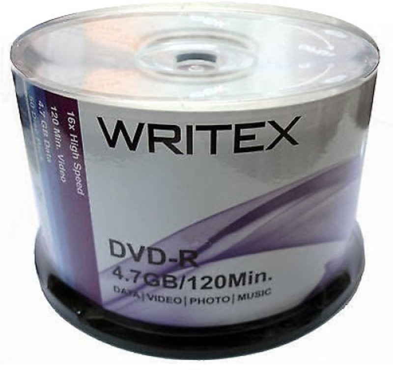 WRITEX DVD Recordable SPINDLE BOX 4.7 GB
