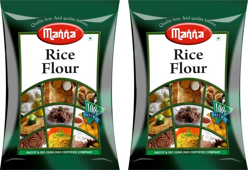 Manna Rice Flour(1000 g, Pack of 2)