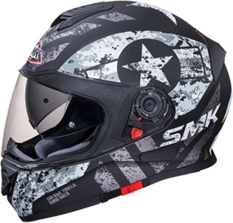 SMK TWISTER CAPTION MA266 Motorbike Helmet(Black)