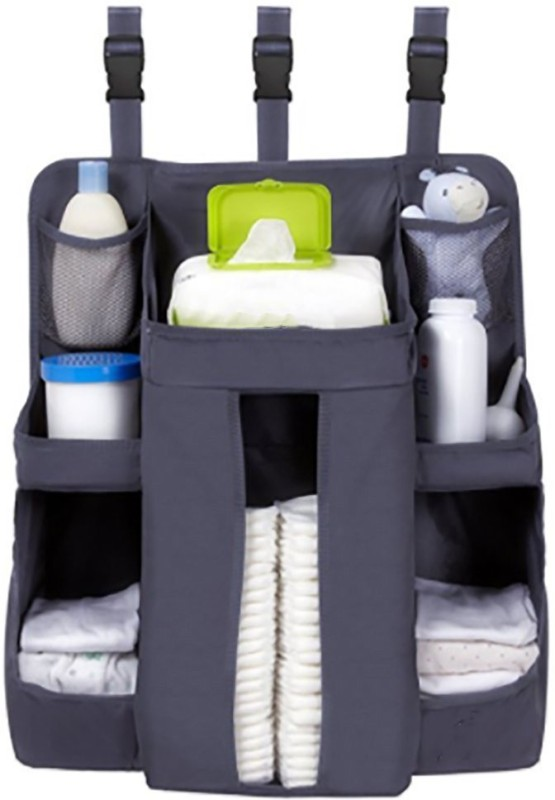 Continental Cot Organiser, Nursery Organizer and Baby Diaper Caddy   Hanging Diaper Organization Storage for Baby Essentials   Hang on Crib, Changing Table or Wall - (ITN 643) Nursery Organizer(Multicolor)