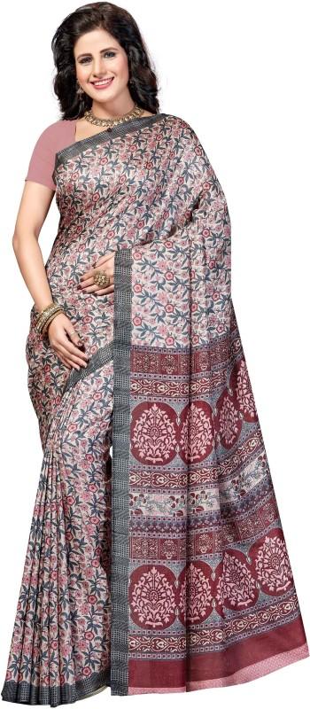 Rani Saahiba Printed Fashion Kota Silk, Jute Saree(Multicolor)