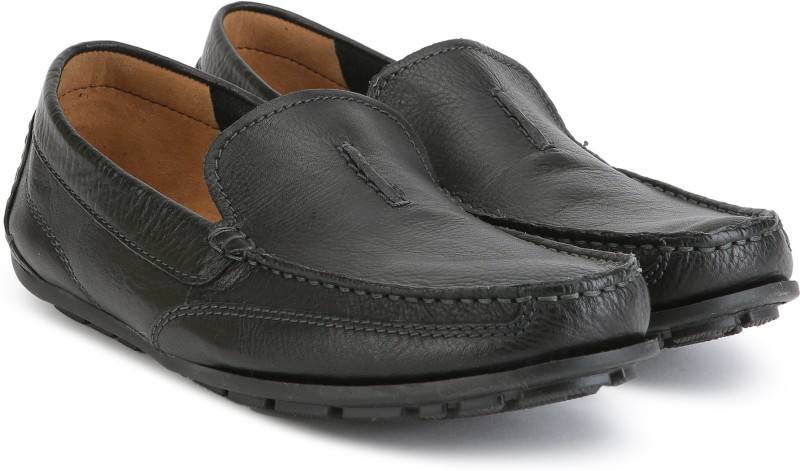 Clarks Benero Race Loafers For Men(Black)