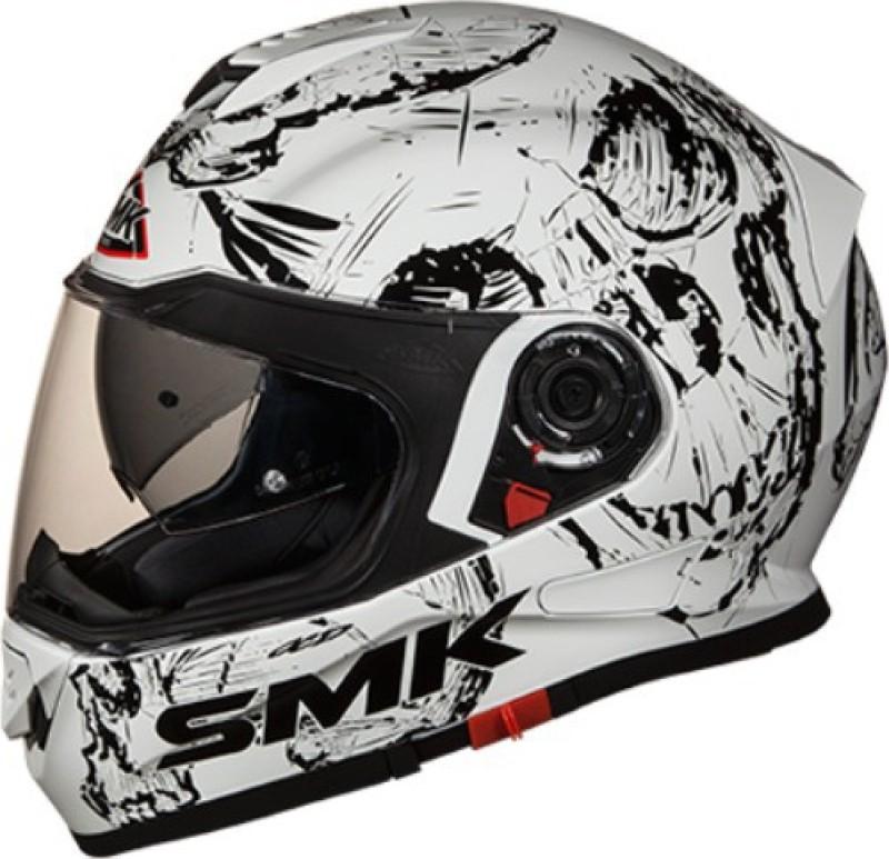 SMK SKULL GL 120 L Motorbike Helmet(White)
