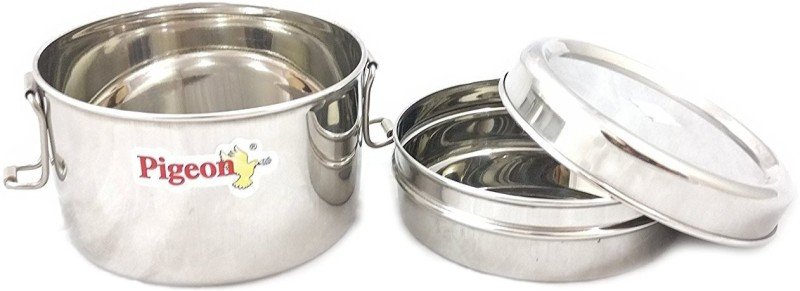 Pigeon Stainless Steel Food Pack - Duplex (Small) 2 Containers Lunch Box(250 ml)