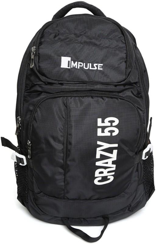 Impulse Crazy 55 Ltr Black Rucksack - 55 L(Black)