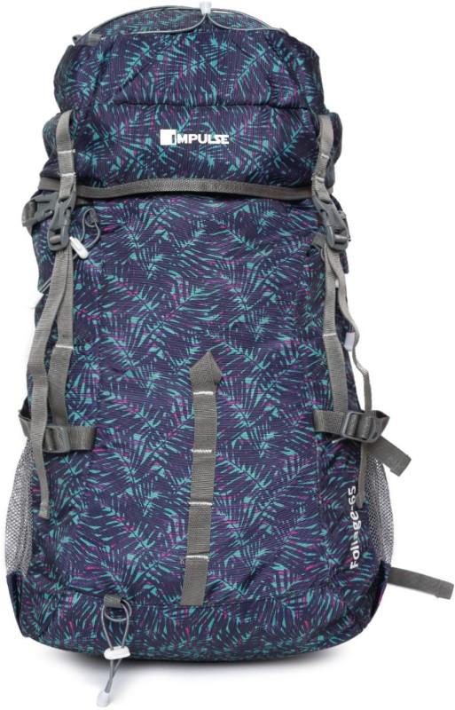 Impulse Foliage 65 Blue Rucksack - 65 L(Blue)