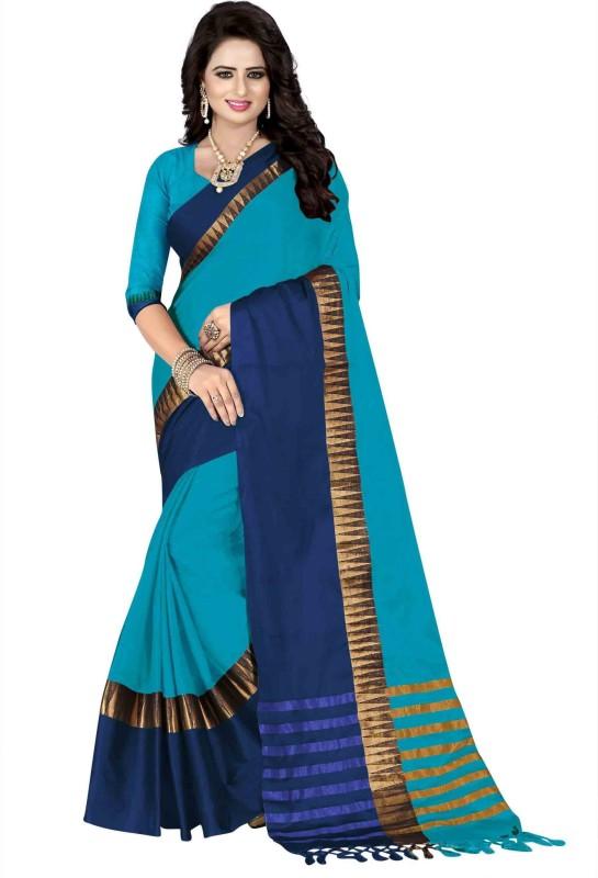 Bombey Velvat Fab Self Design Paithani Jacquard, Cotton, Silk, Cotton Silk, Poly...