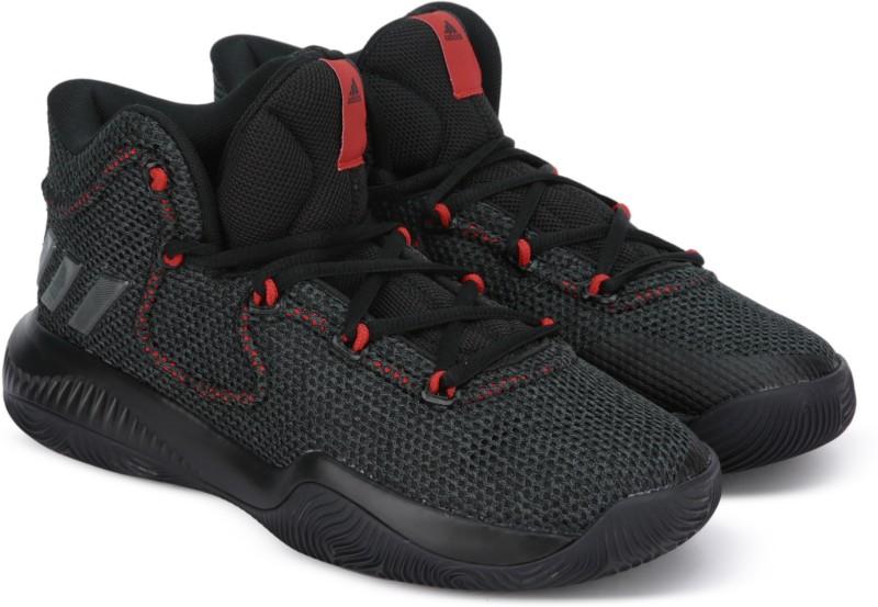 ADIDAS Basketball Shoes For Men(Black)