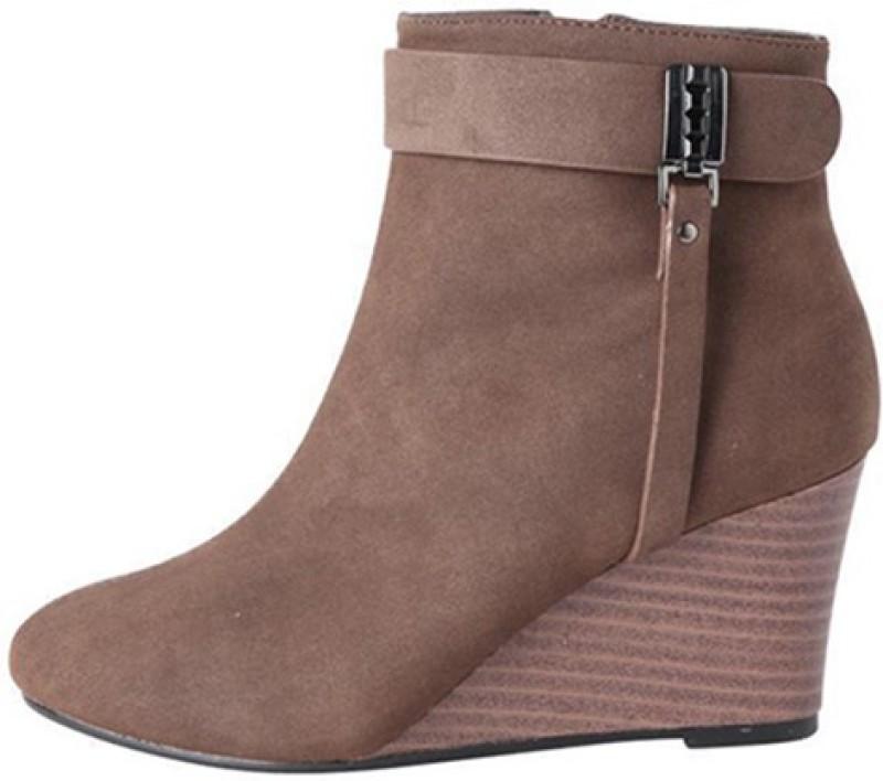 Allen Solly Boots For Women(Brown)