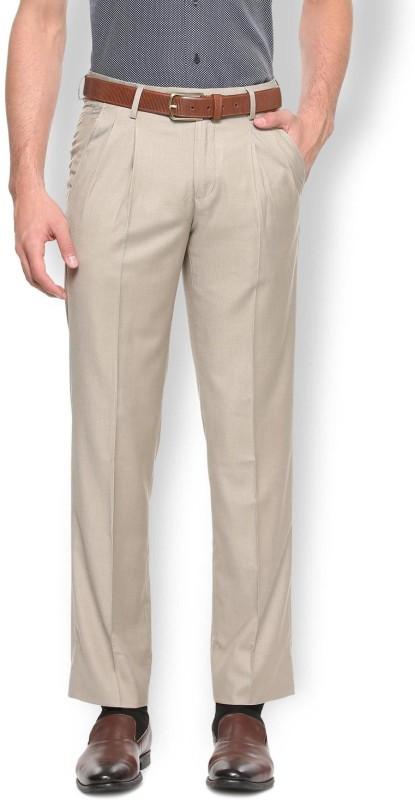 Van Heusen Regular Fit Men Beige Trousers
