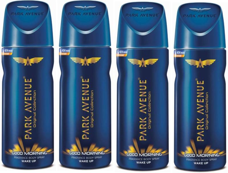 Park Avenue Good Morning Deodorant Combo Pack of 4 Deodorant Spray - For Men(600 ml, Pack of 4)