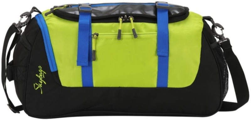 Skybags Tic Tac Duffle Green Travel Duffel Bag(Black, Green)
