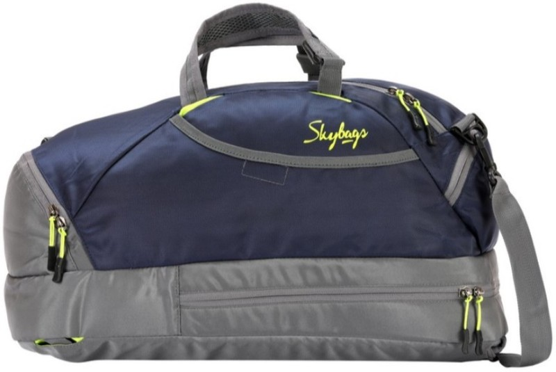 Skybags Flip 3 Way Duffle Blue Travel Duffel Bag(Blue, Grey)