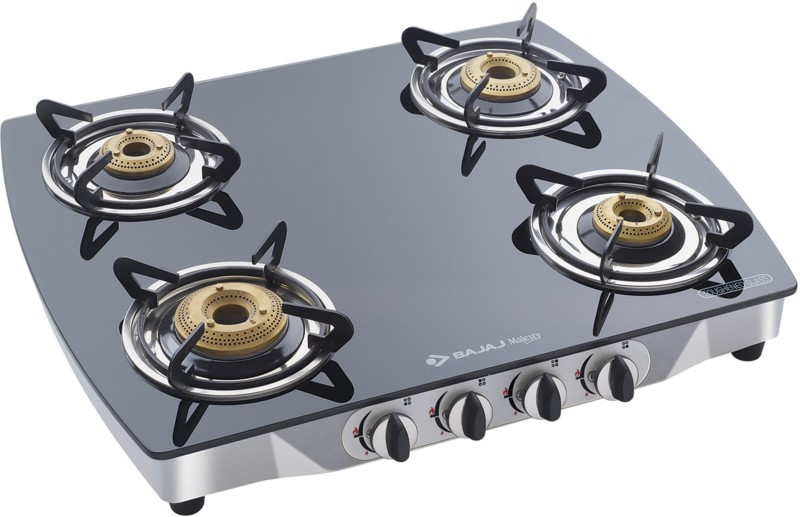 Bajaj Glass Manual Gas Stove(4 Burners)