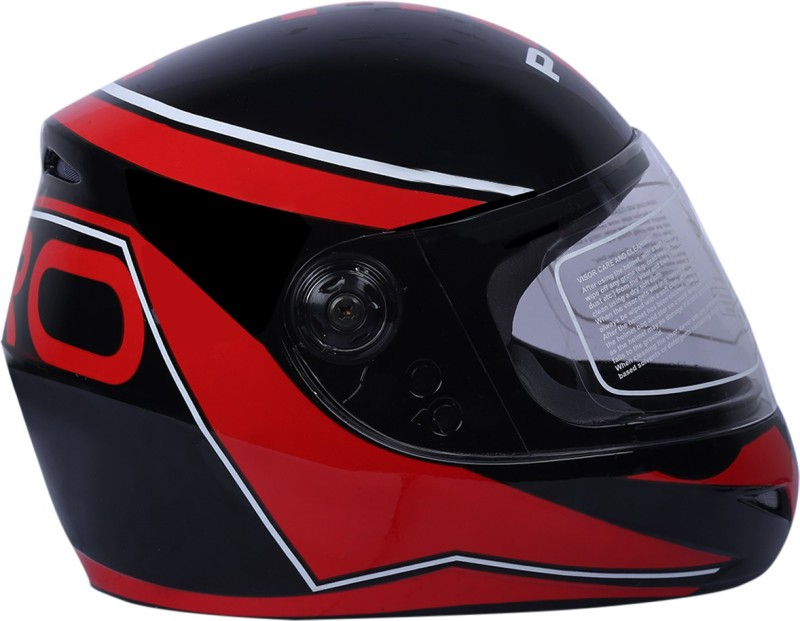 AutoVHPR O2 Pro New Black with Red Dashing Stylish Trending Designer ISI Certified Full Face Latest Graphics Helmet Motorbike Helmet(Red, Black)