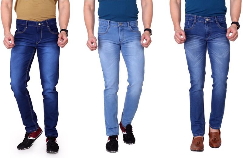Ragzo Slim Men Multicolor Jeans(Pack of 3)