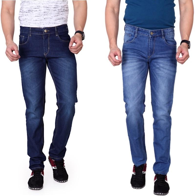 Ragzo Slim Men Multicolor Jeans(Pack of 2)