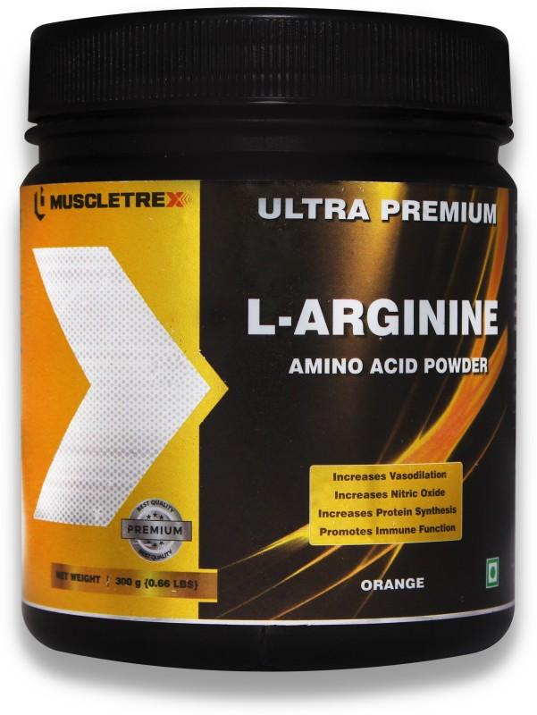 Biotrex Nutraceuticals Muscletrex Ultra Premium L-Arginine Amino Acid Powder, Orange - 300gm (0.66 lbs) EAA (Essential Amino Acids)(300 g, Orange)