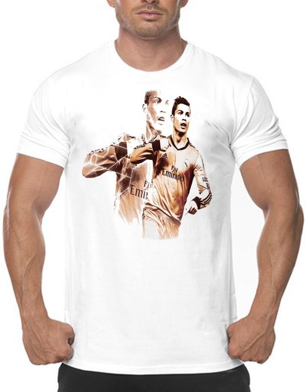Vintage Clubwear Graphic Print Men Round or Crew Multicolor T-Shirt