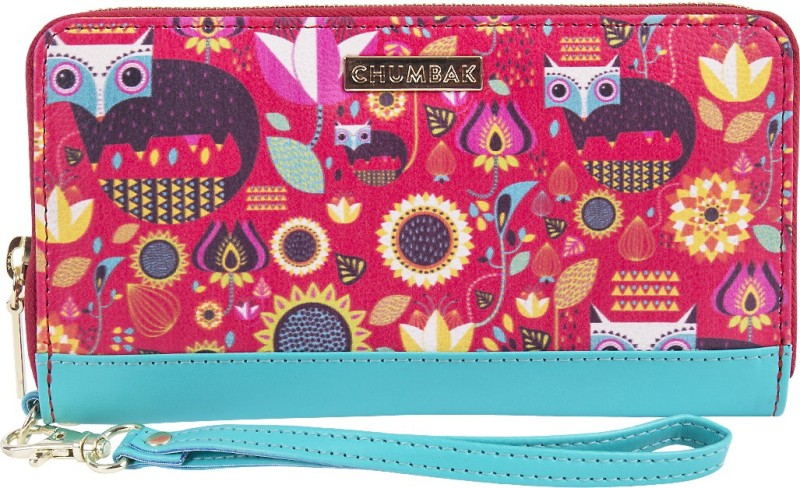Chumbak Women Casual, Evening/Party Multicolor Fabric Wrist Wallet(12 Card Slots)
