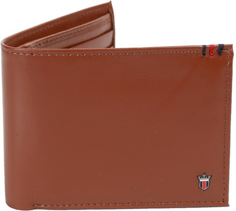 Louis Philippe Men Brown Genuine Leather Wallet(4 Card Slots)