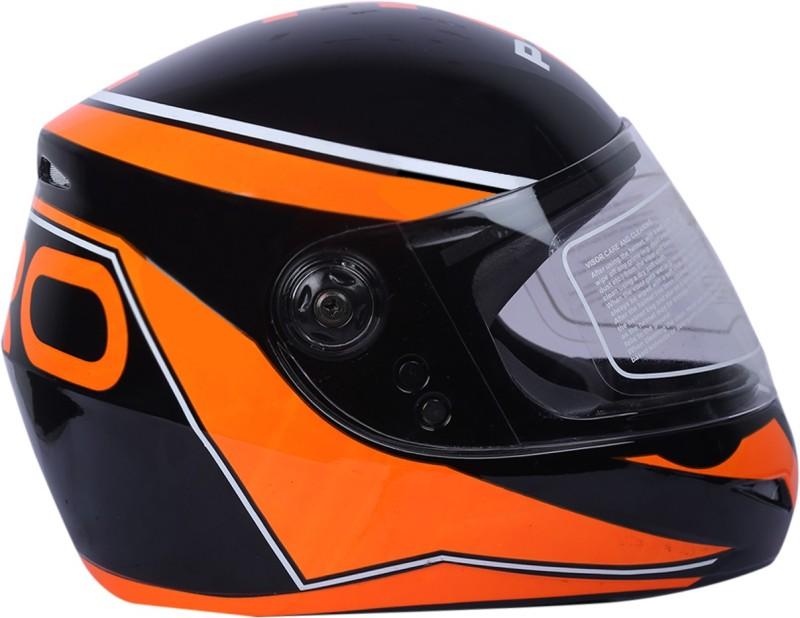 AutoVHPR O2 Pro Black with Orange Dashing Stylish Trending Graphics ISI Certified Helmet Motorbike Helmet(Black, Orange)